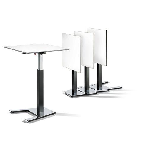 moderner Stehtisch / Holzfurnier / Metall / HPL