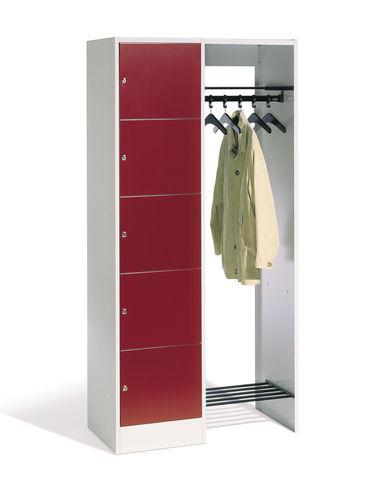 Stahl-Garderobenschrank / für Büro / offener Kleiderablage für Gebäude