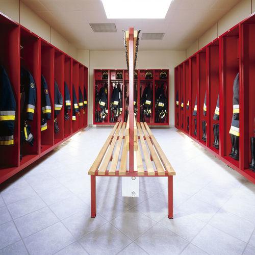 Stahl-Garderobenschrank / offener Kleiderablage für Gebäude