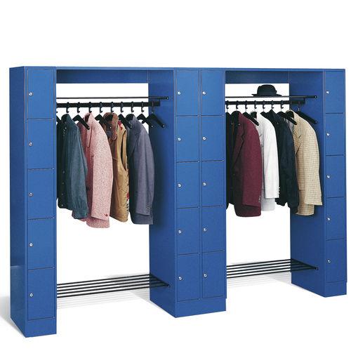 Stahl-Garderobenschrank / für öffentliche Einrichtungen / offener Kleiderablage für Gebäude