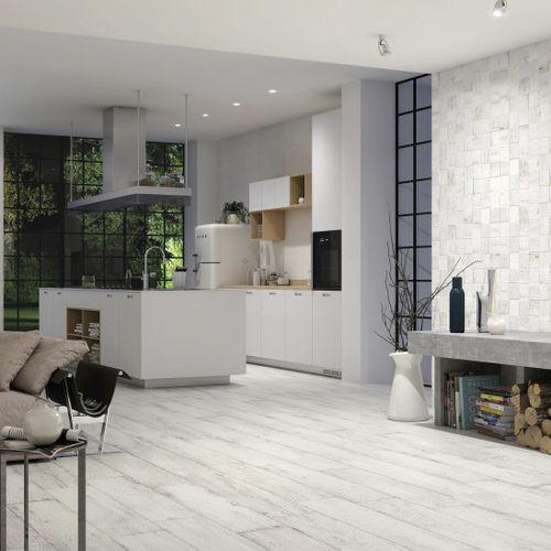 Fliesen für Badezimmer / Boden / Keramik / Holz - CHAMAREL WHITE - Naxos