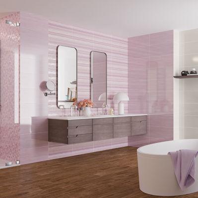 Fliesen Für Badezimmer Für Böden Feinsteinzeug Poliert SOFT - Rosa fliesen bad