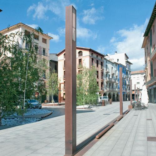 Straßenlaterne / modern / COR-TEN®-Stahl / LED