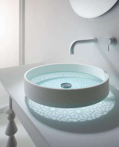 Waschbecken rund glas  Aufsatzwaschbecken / rund / Glas / modern - MOTIF BASIN - Omvivo