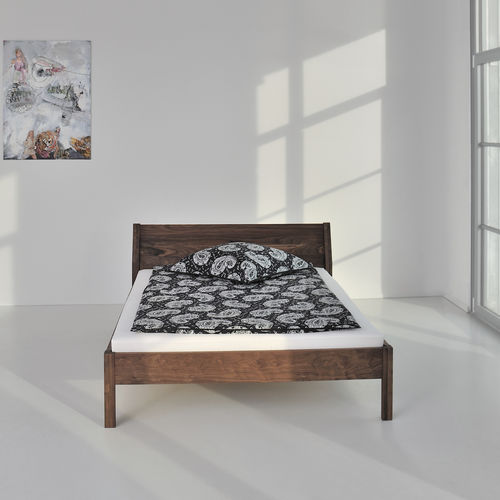 Doppelbett / skandinavisches Design / Kopfteil / nach Maß