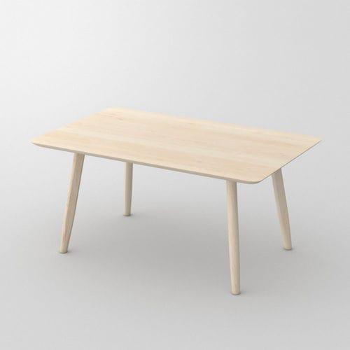 moderner Esszimmerstuhl / Massivholz / aus Ahorn