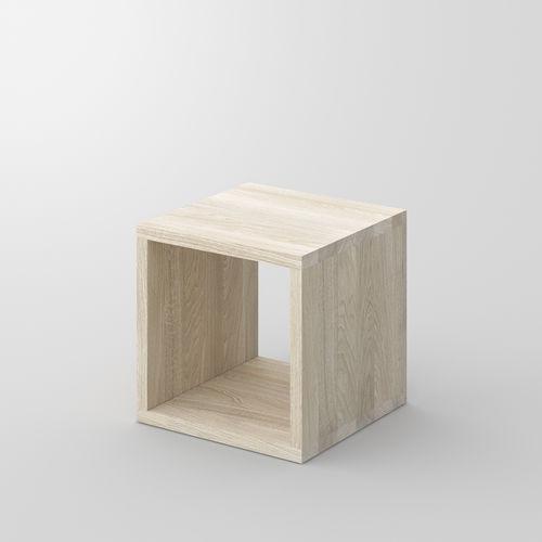 moderner Nachttisch / aus Eiche / aus Nussbaum / Massivholz