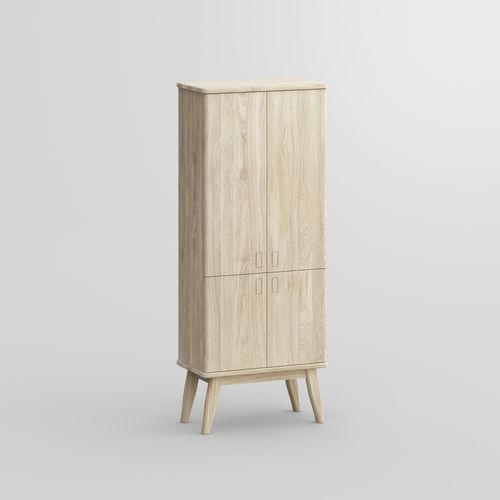 hohes Sideboard / Design / aus Eiche / aus Nussbaum