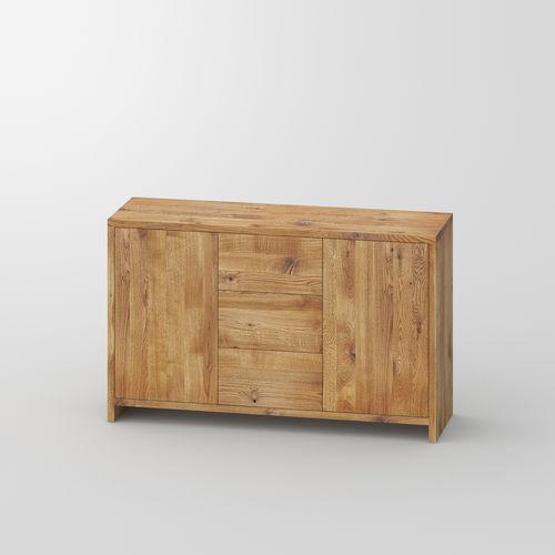 modernes Sideboard / aus Eiche / aus Nussbaum / Massivholz