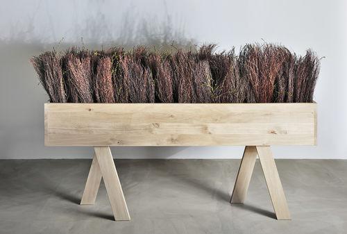 Pflanzgefäß aus Esche / Linoleum / amerikanischer Nussbaum / aus Buche
