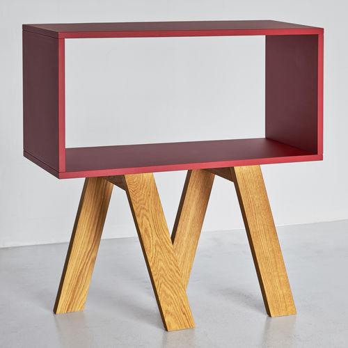 Design-Regal / aus Eiche / aus Nussbaum / Massivholz