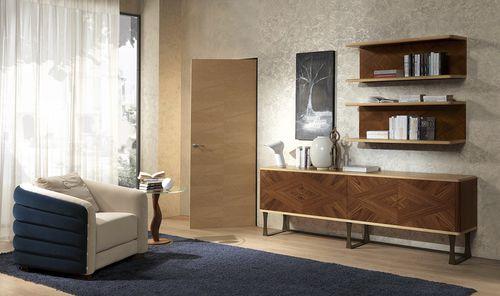 wandmontiertes Regal / modern / Holz