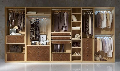 moderner Kleiderschrank / Holz