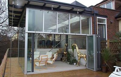 Stapelbare Schiebe Terrassentür / aus Aluminium / Doppelverglasung / 3-Fach-Verglasung SF55V I D Systems