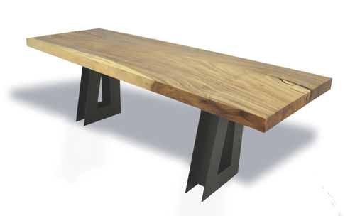 Holz-Schreibtisch / modern SINGLE TAMBURIL SLAB Rotsen Furniture