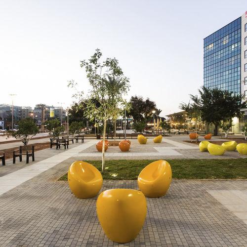 Straßen-Sessel / Beton / polyurethanbeschichtet