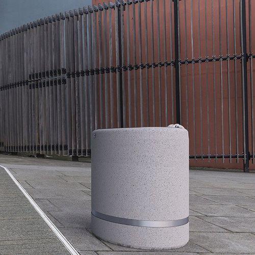 Park-Abfallbehälter / Beton / Marmor / modern