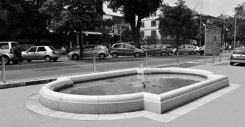 Park-Springbrunnen / Beton / Marmor / modern