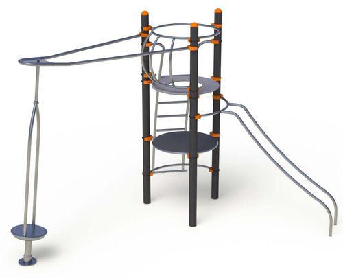 Spielplatzgerät für öffentliche Räume / Stahl / Edelstahl
