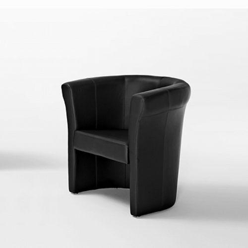 moderner Sessel / Leder / Bridge / Objektmöbel