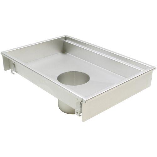 Edelstahl-Bodenablauf / für Küchen / rechteckig
