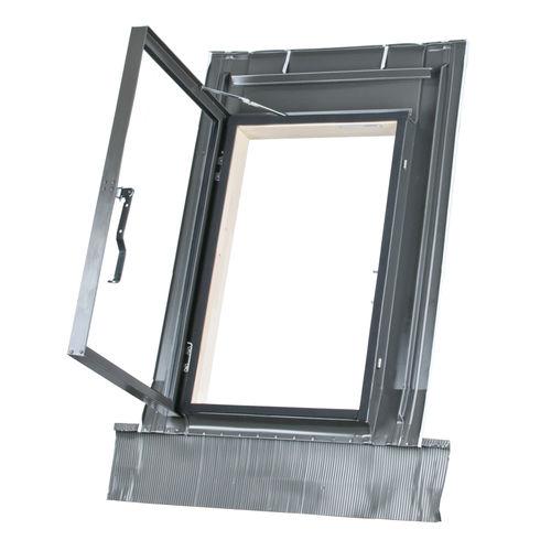 Fussklappe / am Dach / rechteckig / verglast / Metall MDM® MDM®