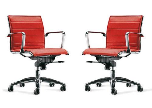 moderner Bürosessel / Maschen / Aluminium / drehbar