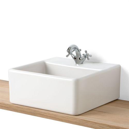 Aufsatzwaschbecken / quadratisch / Steinzeug / modern