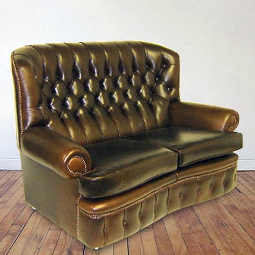 klassisches Sofa / Leder / 2 Plätze / 3 Plätze