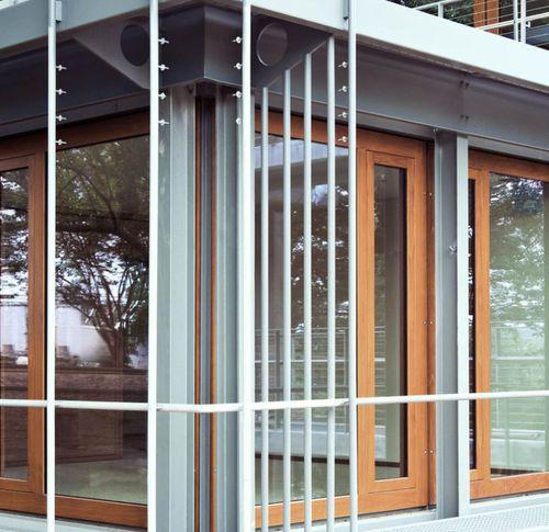 Schiebe-Terrassentür / Holz / Doppelverglasung / Sicherheit GERMAN EMBASSY Accsys Technologies