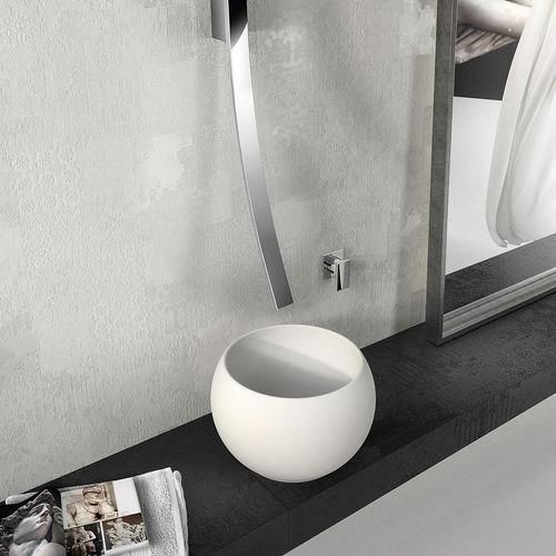 Aufsatzwaschbecken / rund / Mineralwerkstoff / modern