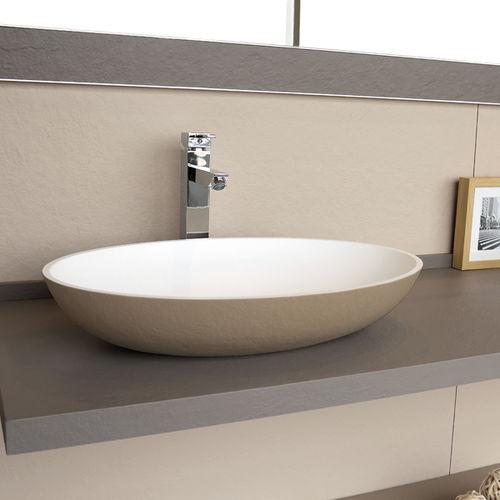 Aufsatzwaschbecken / oval / Verbundwerkstoff / modern
