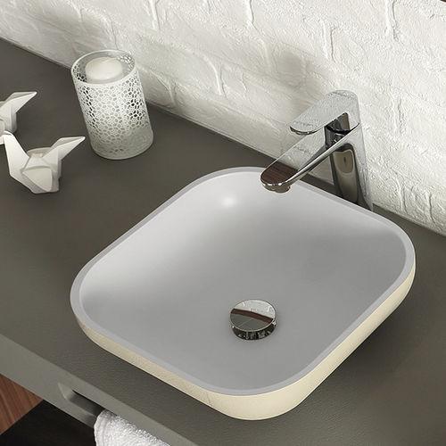 Aufsatzwaschbecken / quadratisch / Verbundwerkstoff / modern