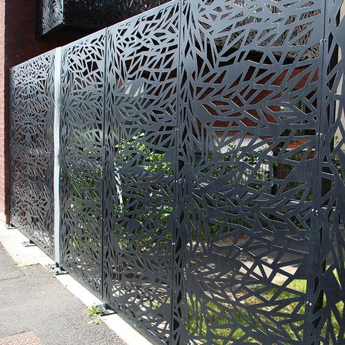 Gartenzaun / Platten / Metall / Modulare