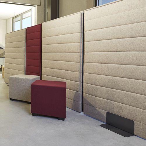 Bodenstehende Bürotrennwand / Stoff / modulierbarer / schallisoliert ...