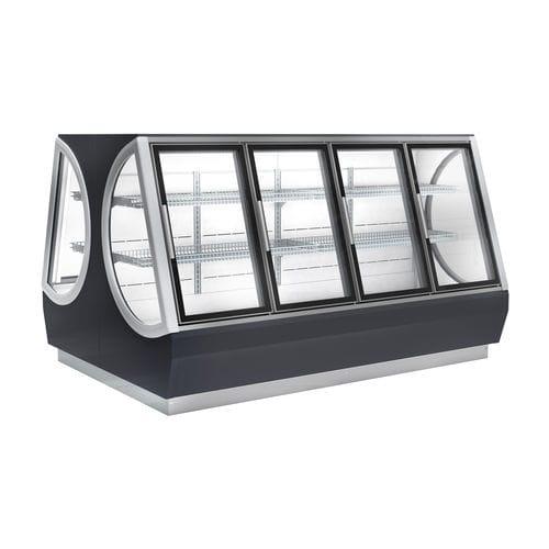 Gefrierschrank zur gewerblichen Nutzung / verglast / schwarz ICONIC VIESSMANN