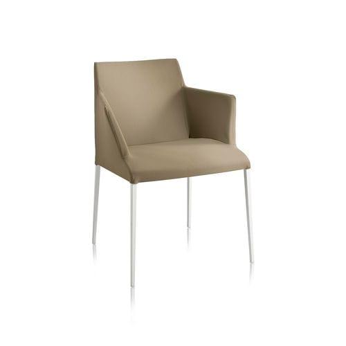 moderner Sessel / Stoff / Stahl / Bridge