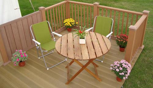 Holzbalustrade / Außenbereich / für Balkon / für Terrassen
