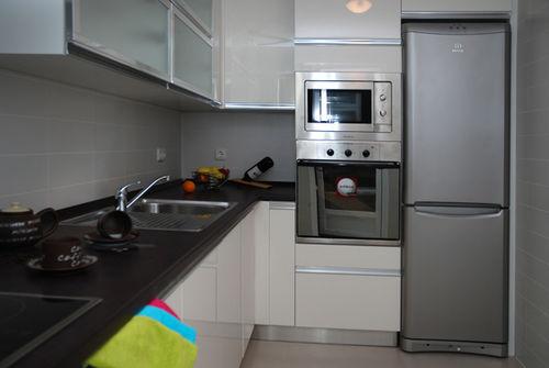 moderne Küche / Beton / Stahl / L-förmig