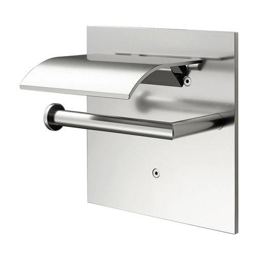 wandmontierter Toilettenpapierhalter / Aluminium / Objektmöbel