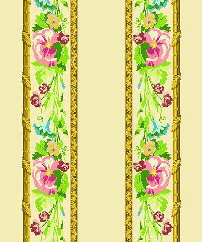 Gardinenstoff / Möbel / Wand / Blumenmotive