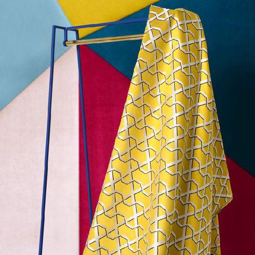 Wand-Stoff / Gardinen / Möbel / mit geometrischem Muster