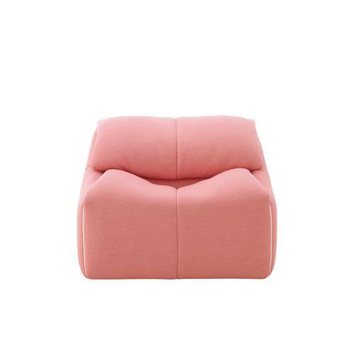 moderner Sessel / Stoff / mit Fußstütze / mit abziehbarem Bezug