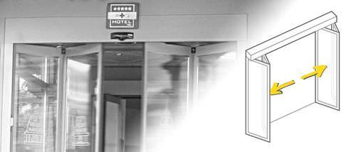 Eingangstür / faltbar / Stahl / automatisch