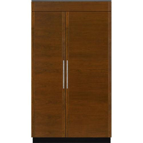 Amerikanisch-Kühlschrank / Holz / Einbau