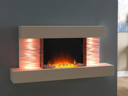 Elektrokamin / modern / geschlossene Feuerstelle / wandmontiert