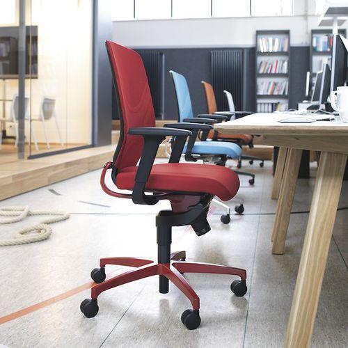 moderner Sessel für Büro / Netz / mit Rollen / sternförmiger Fuß