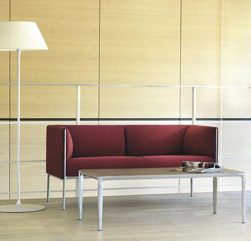 Modernes Sofa / Stoff / Leder / Aluminium ASIENTA by Jehs+Laub Wilkhahn