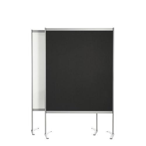 weiße Tafel / schwarz / freistehend / selbsttragend