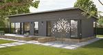 Passives Haus / individuell / aus Massivholz-Block / modern
